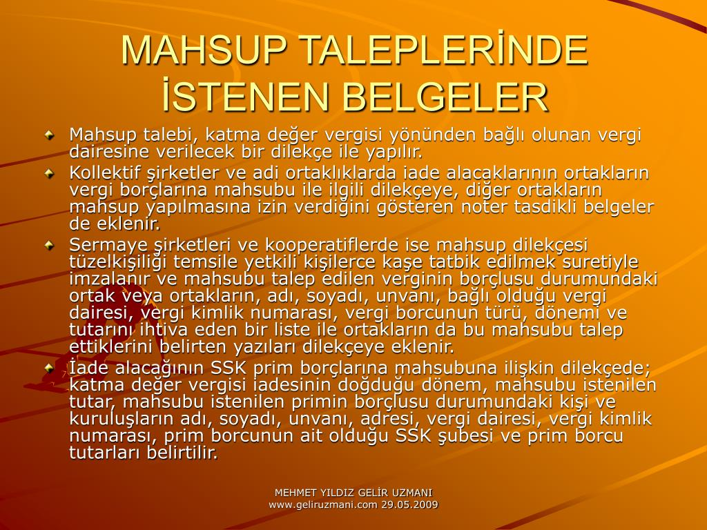 MAHSUP TALEPLERNDE STENEN BELGELER