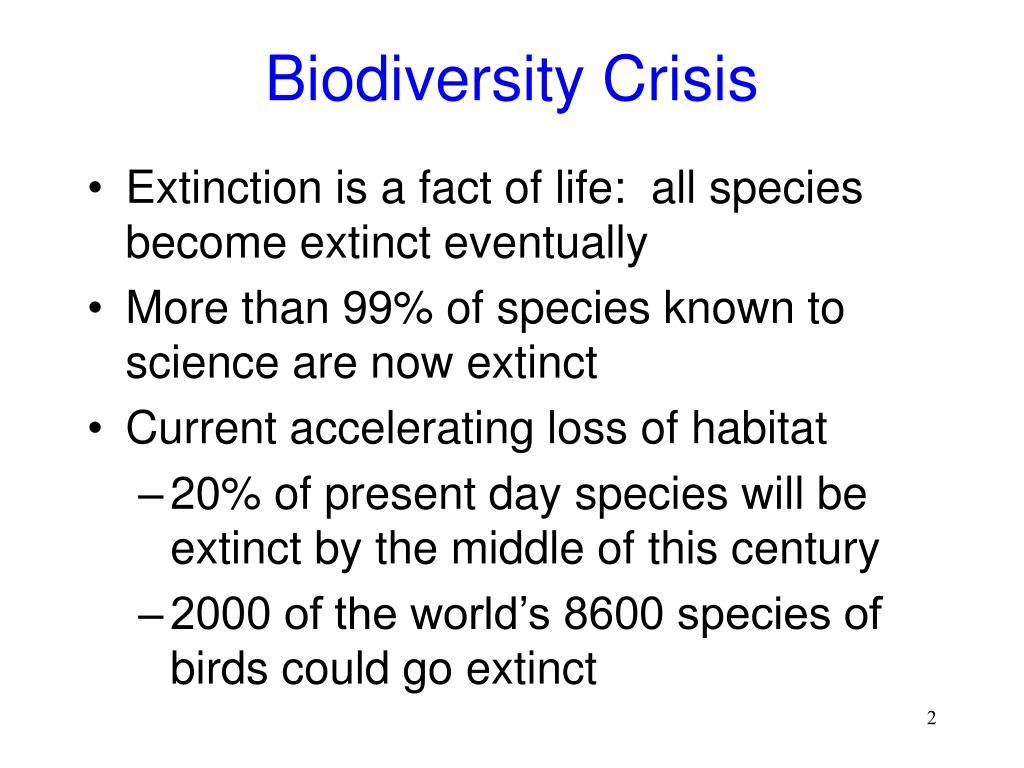 Biodiversity Crisis
