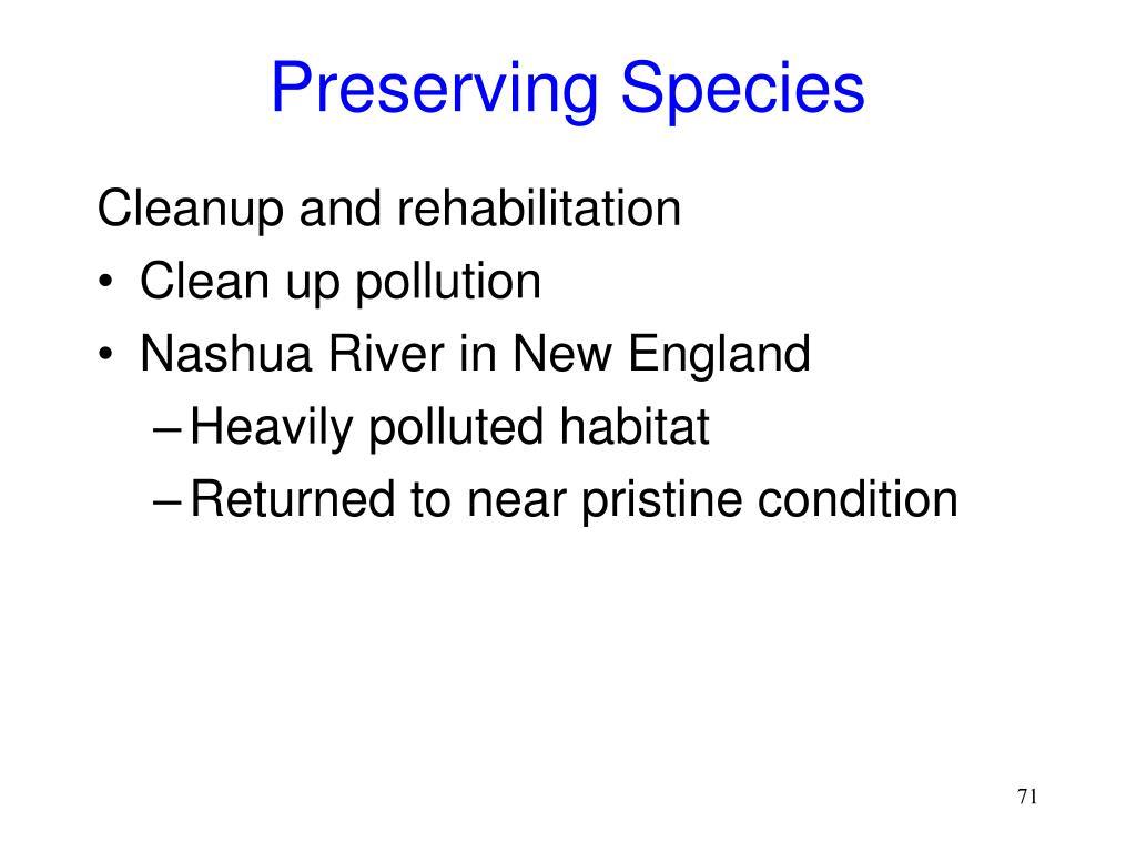 Preserving Species