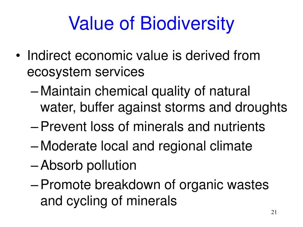 Value of Biodiversity