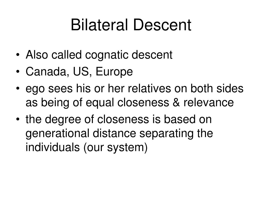 Bilateral Descent