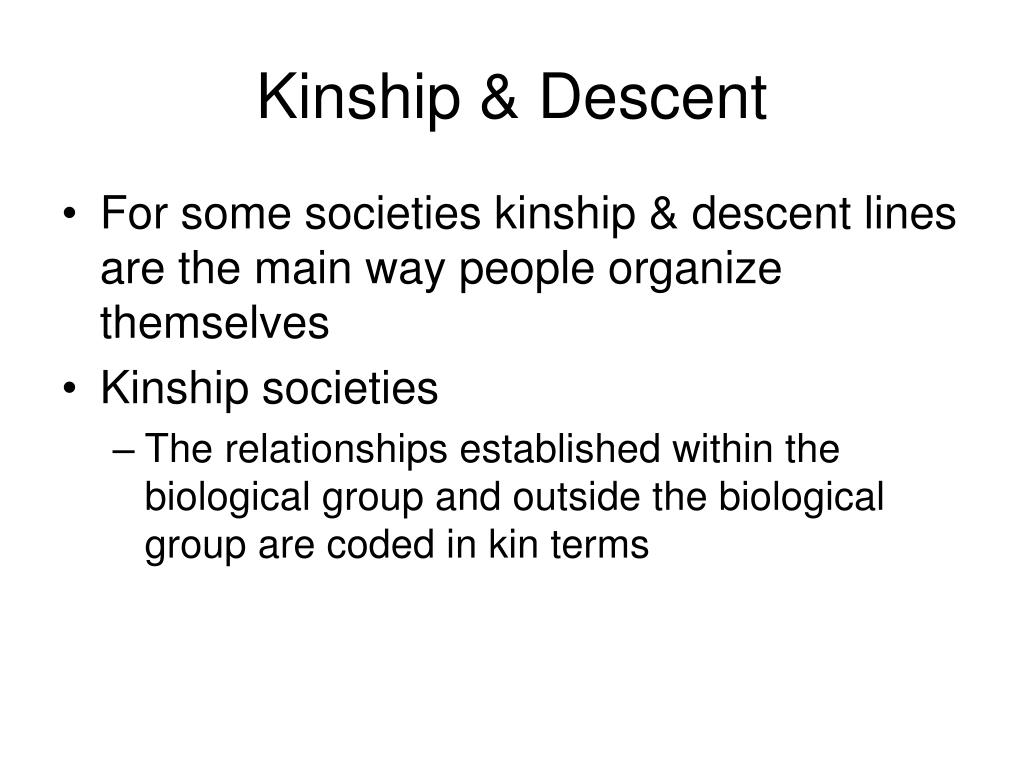 Kinship & Descent