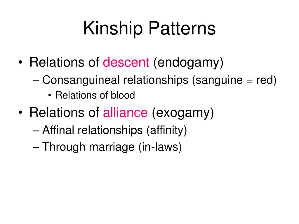 Kinship Patterns