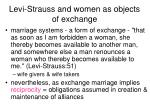levi strauss and women as objects of exchange