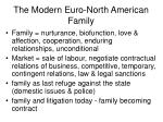 the modern euro north american family