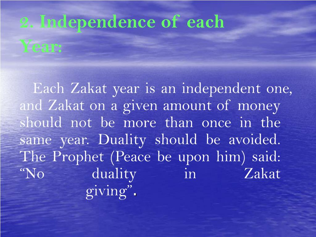2. Independence of each Year: