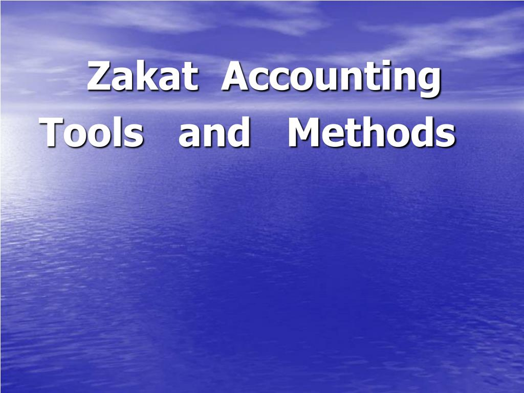 Zakat  Accounting