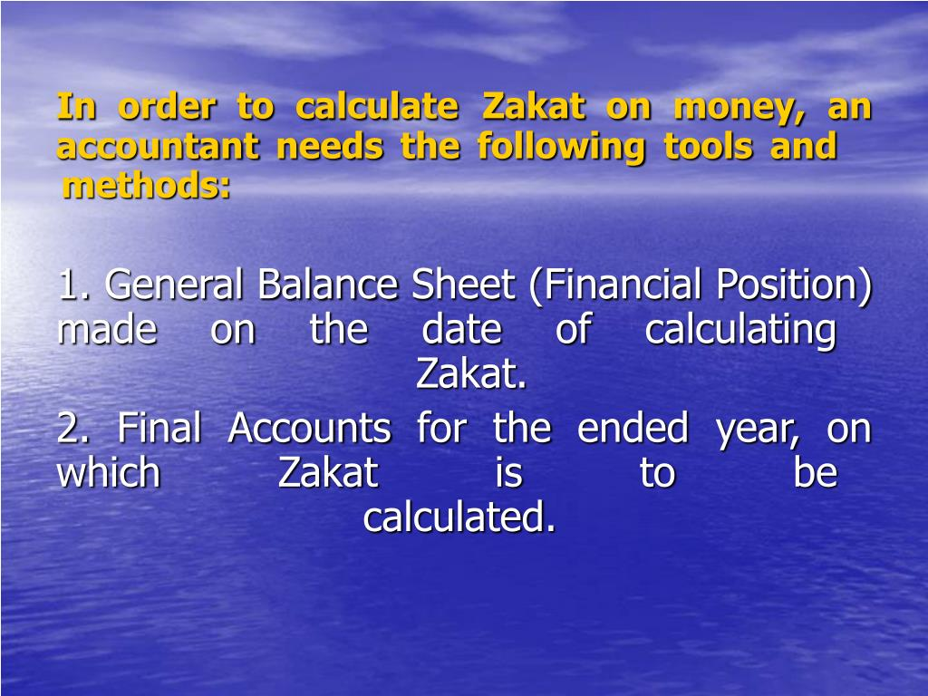 In order to calculate