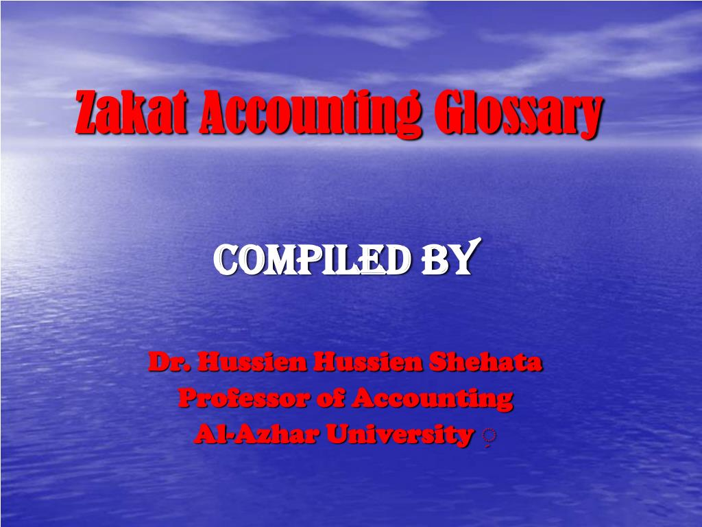 Zakat Accounting Glossary