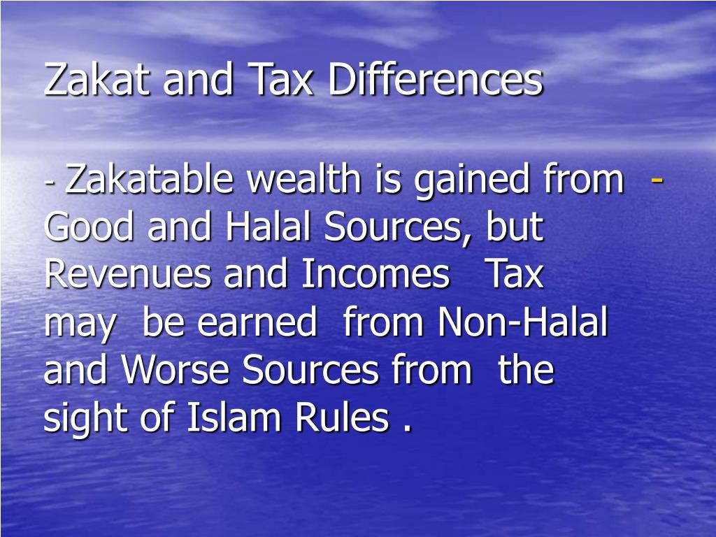 Zakat and Tax Differences