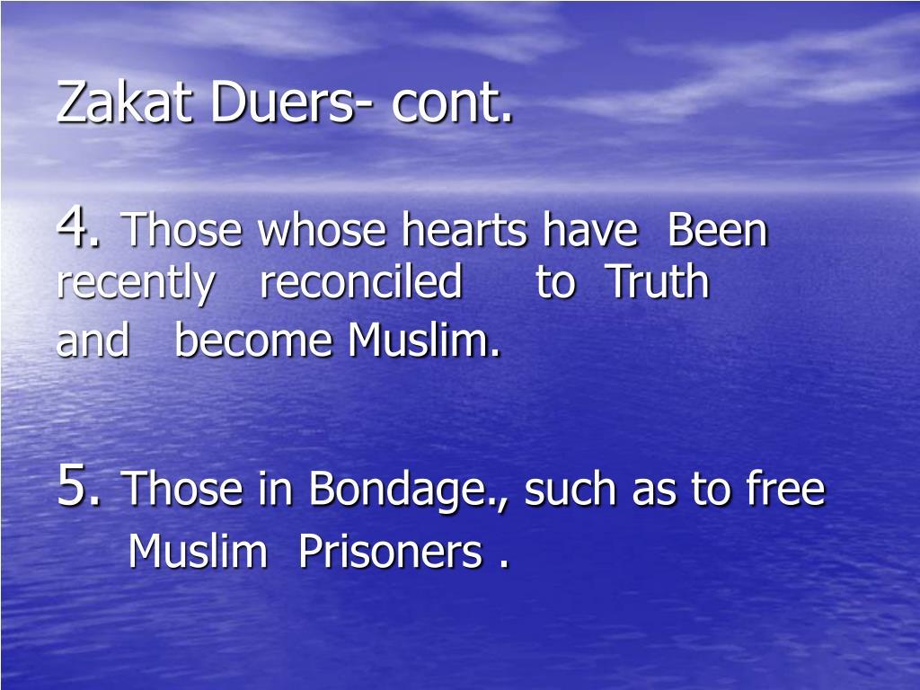 Zakat Duers- cont.
