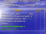 zakat statement for revenue from work in the year which is ending continue154