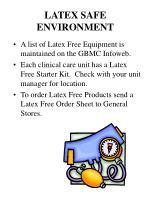latex safe environment