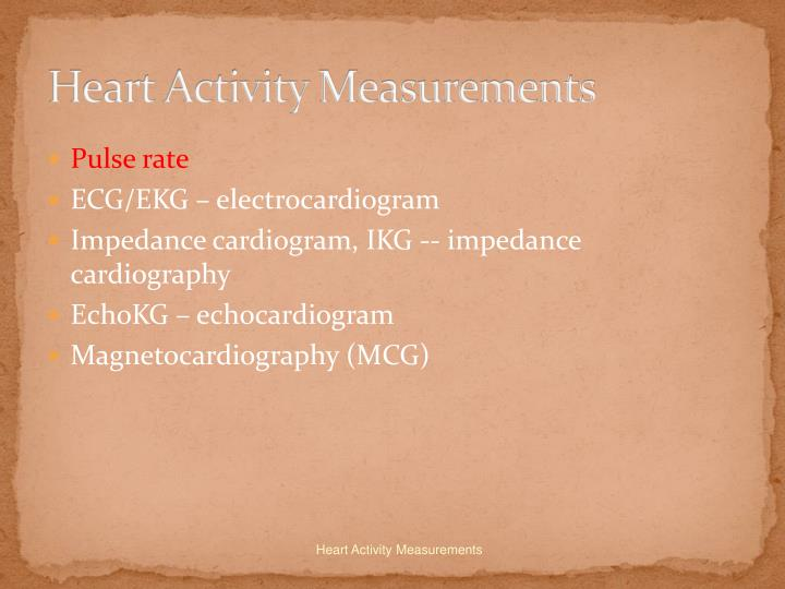 Heart activity measurements2