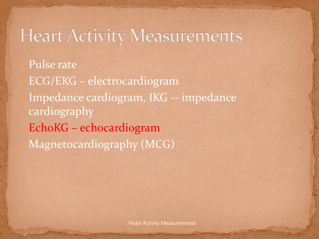 Heart Activity Measurements