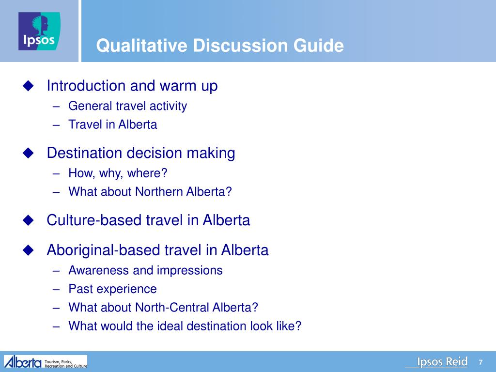 Qualitative Discussion Guide