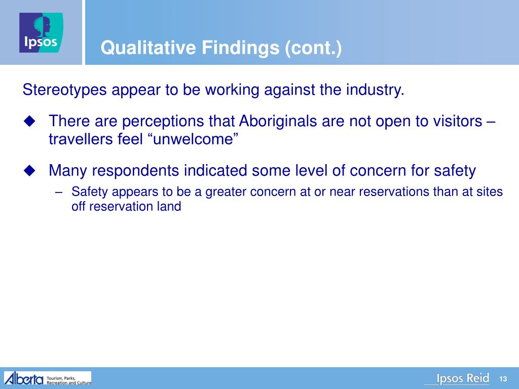 Qualitative Findings (cont.)