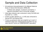 sample and data collection
