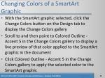 changing colors of a smartart graphic