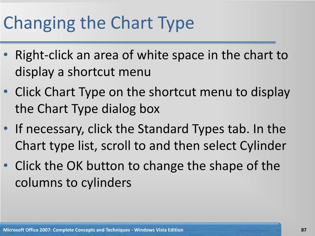 Changing the Chart Type