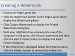 creating a watermark