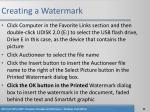 creating a watermark34