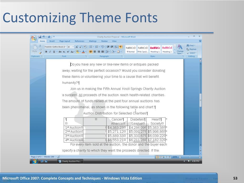 Customizing Theme Fonts
