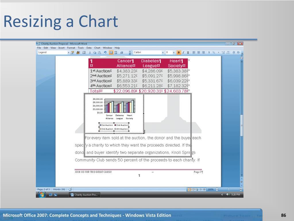 Resizing a Chart
