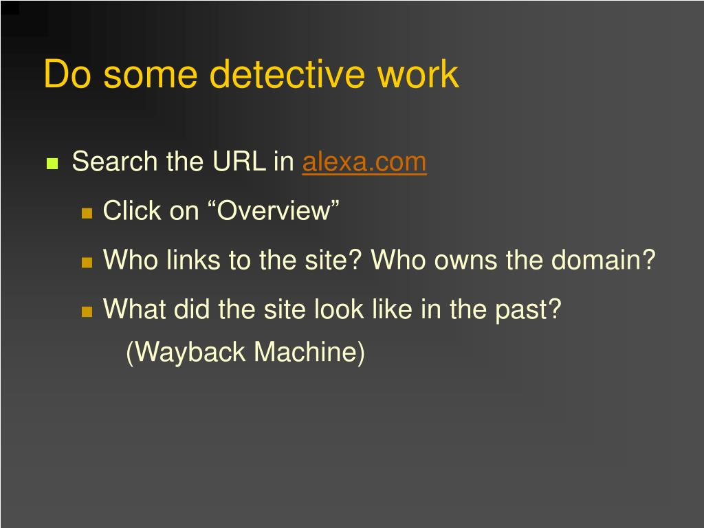 Search the URL in
