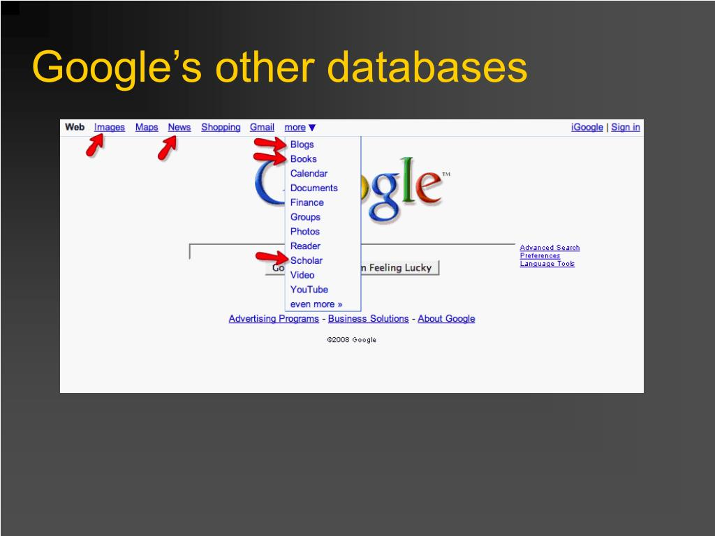 Google's other databases