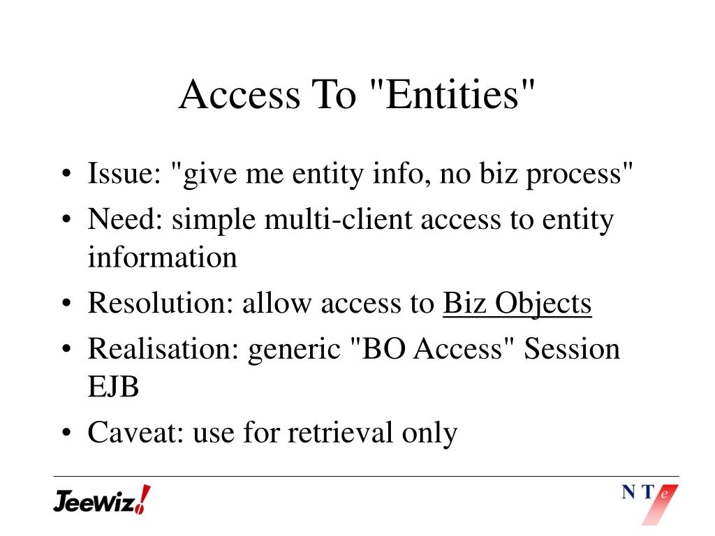 "Access To ""Entities"""