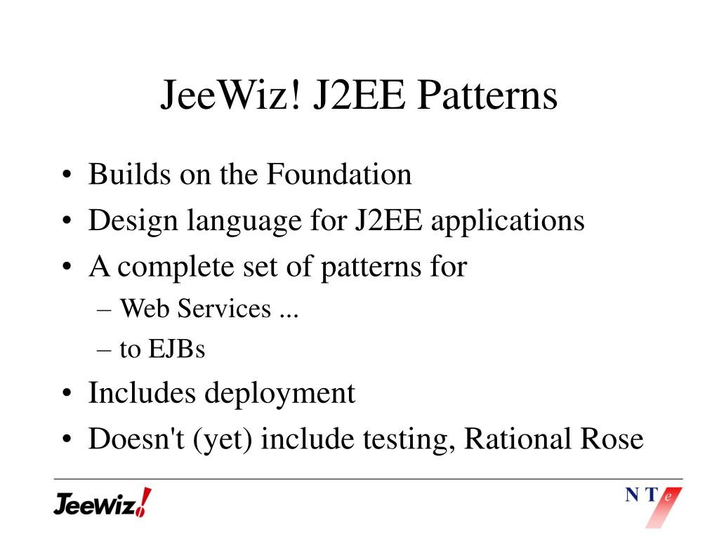 JeeWiz! J2EE Patterns