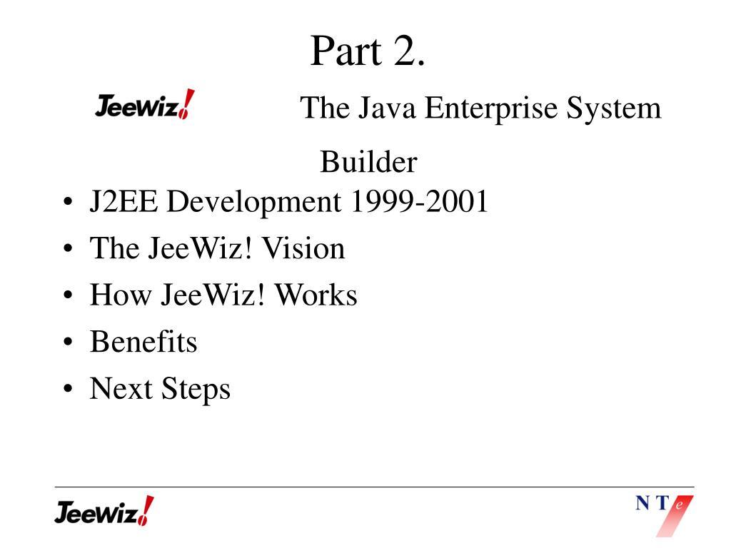 J2EE Development 1999-2001