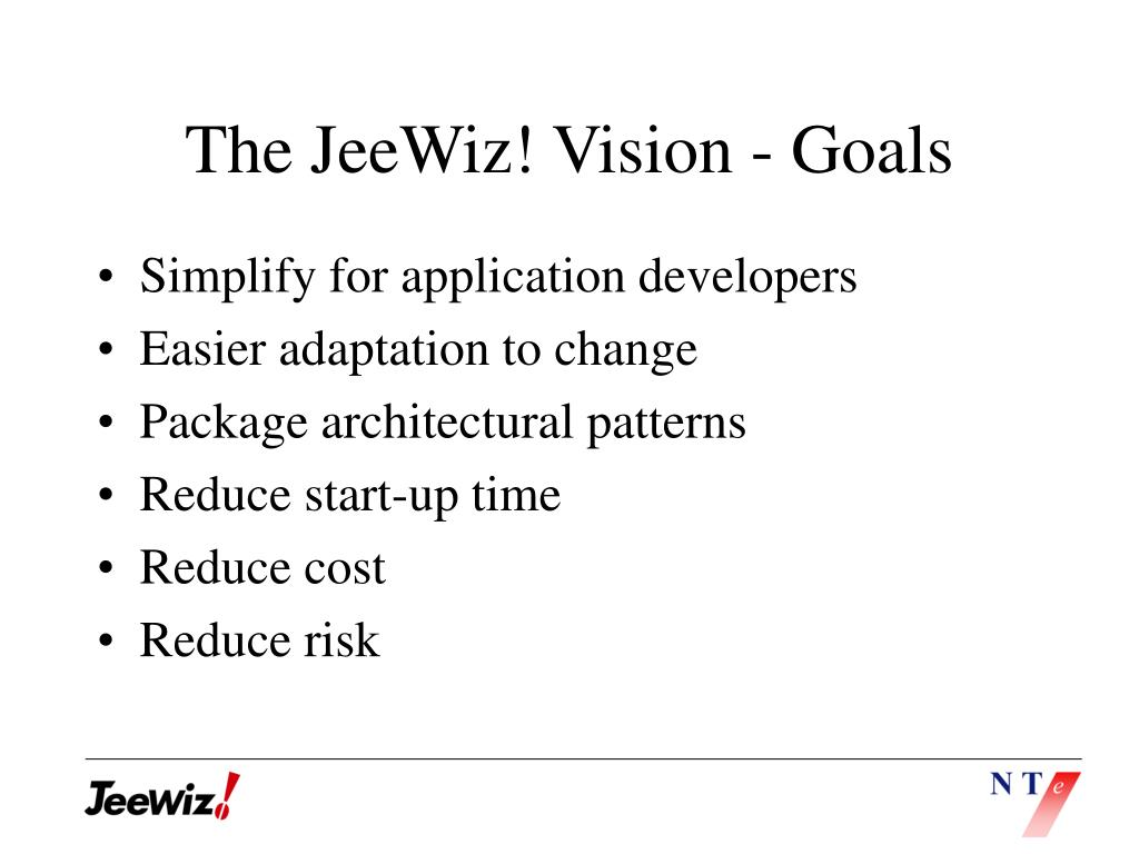 The JeeWiz! Vision - Goals