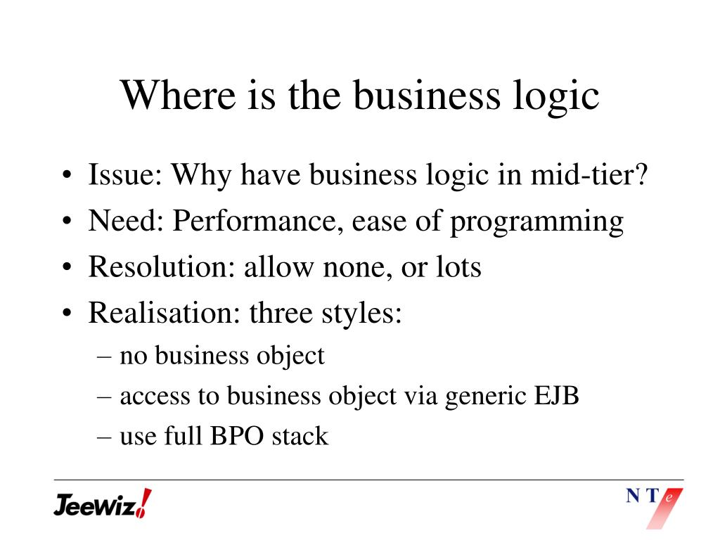 Where is the business logic