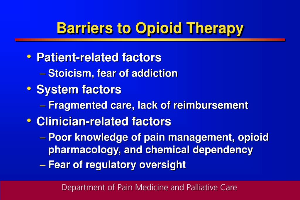 Barriers to Opioid Therapy