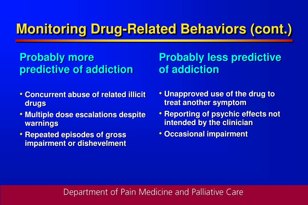 Probably more predictive of addiction