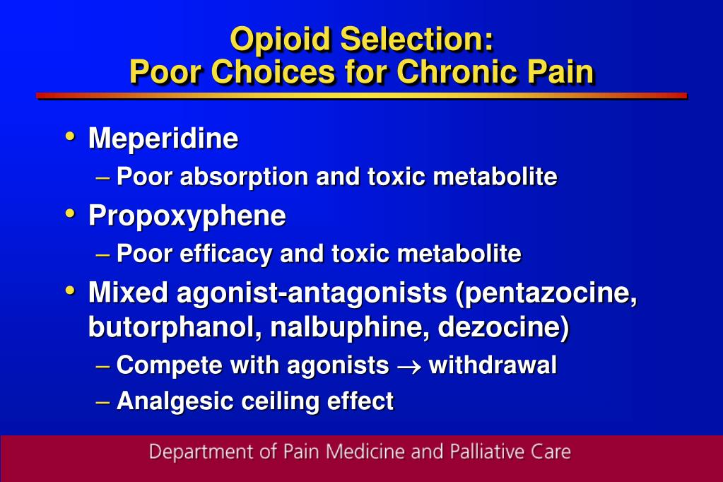 Opioid Selection: