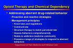 opioid therapy and chemical dependency36