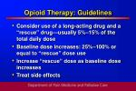 opioid therapy guidelines