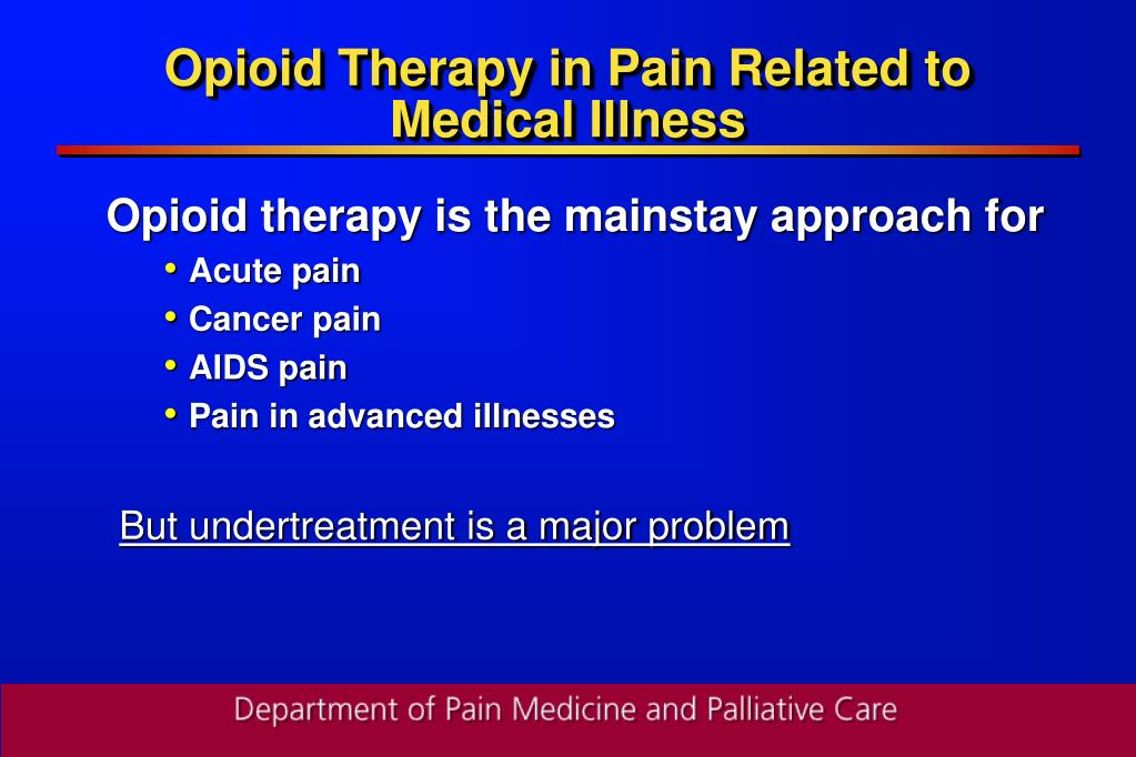 Opioid Therapy in Pain Related to