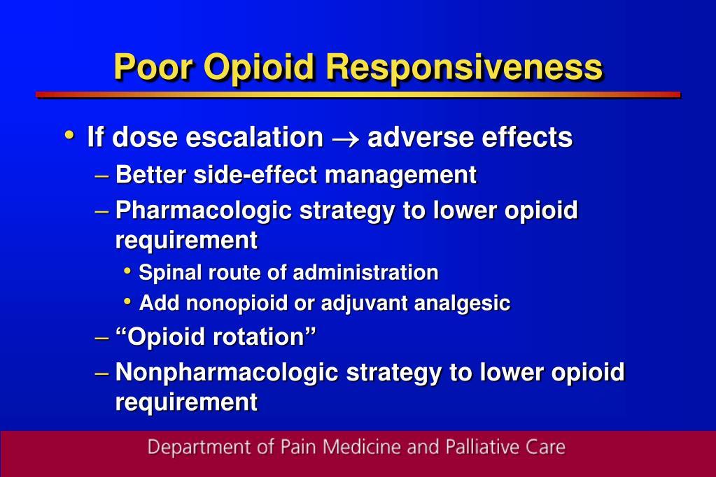 Poor Opioid Responsiveness