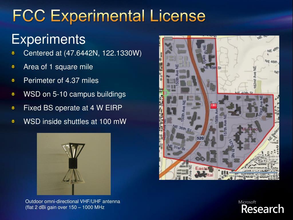 FCC Experimental