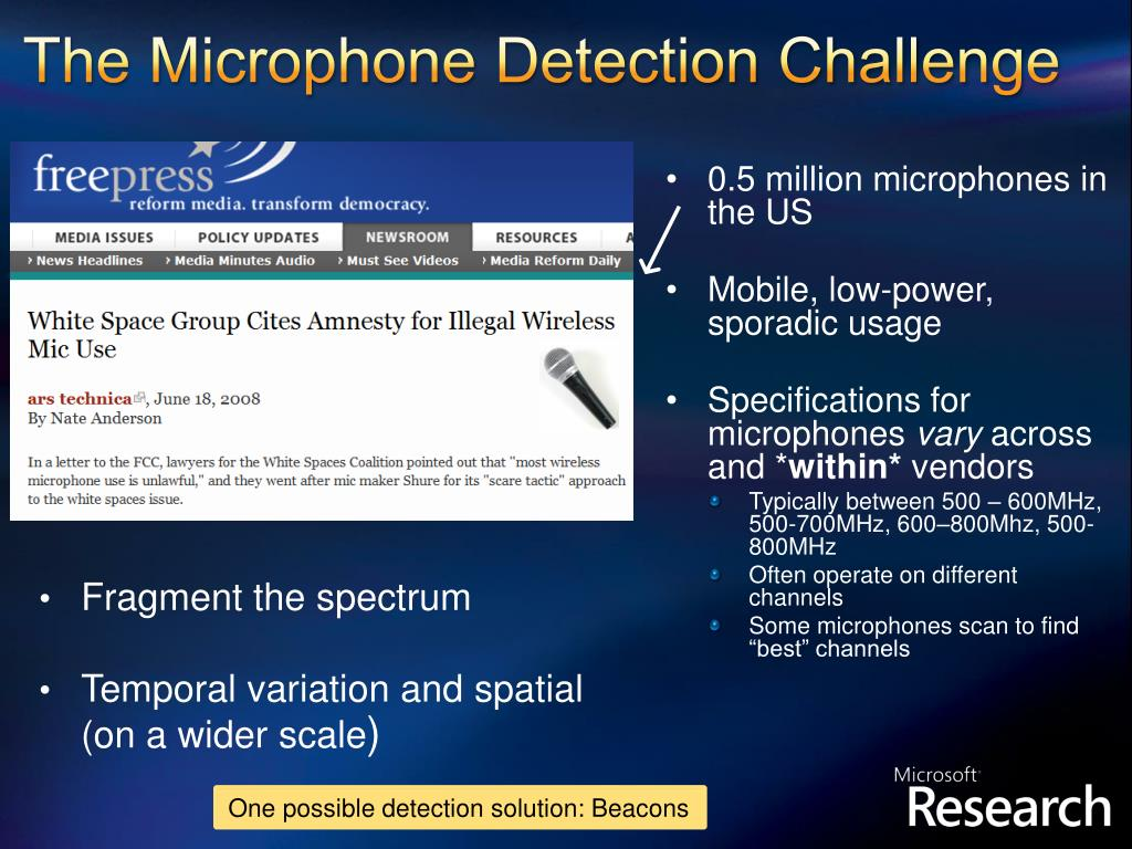 The Microphone Detection Challenge