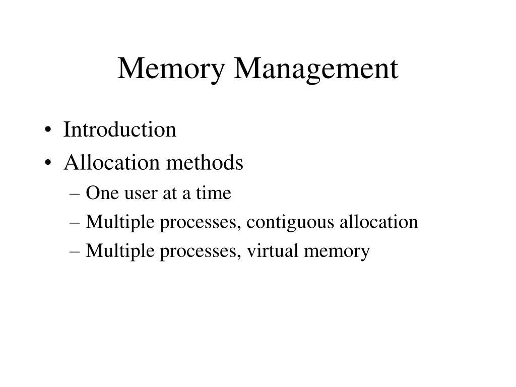Memory Management