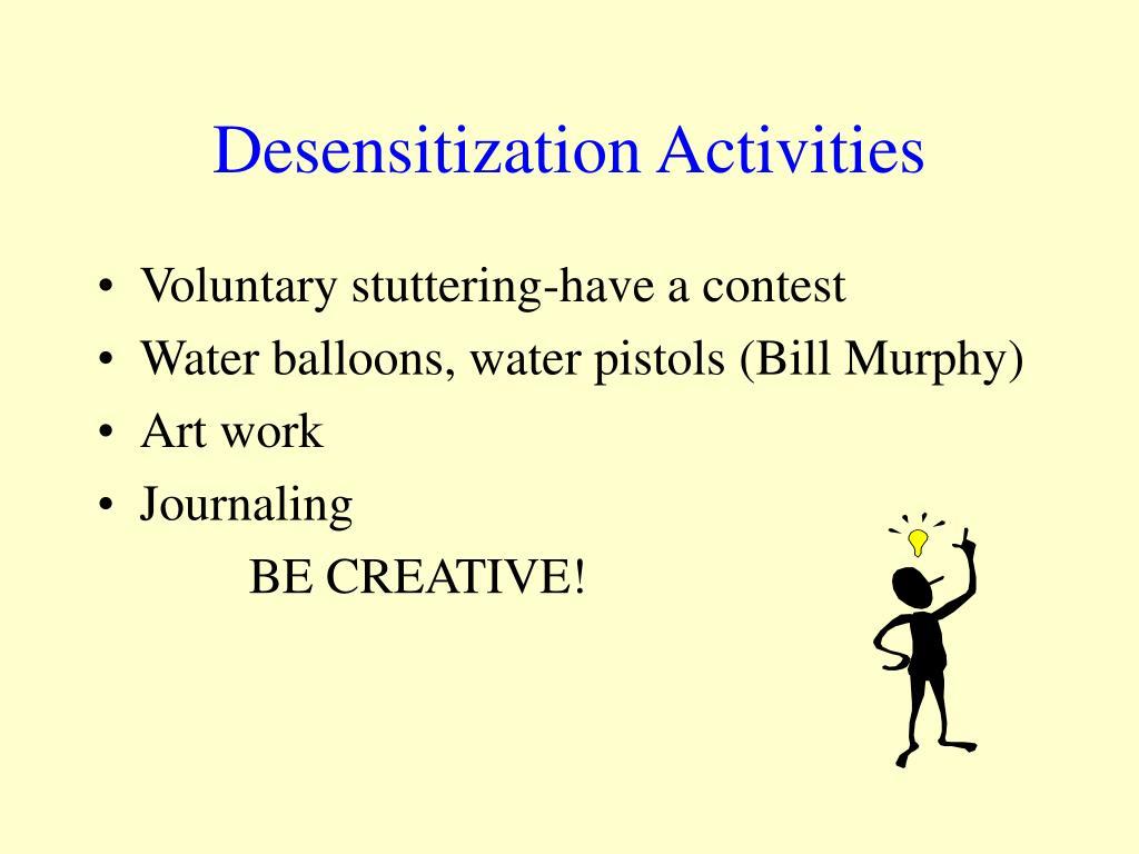Desensitization Activities
