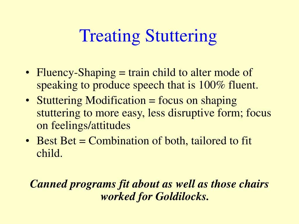 Treating Stuttering
