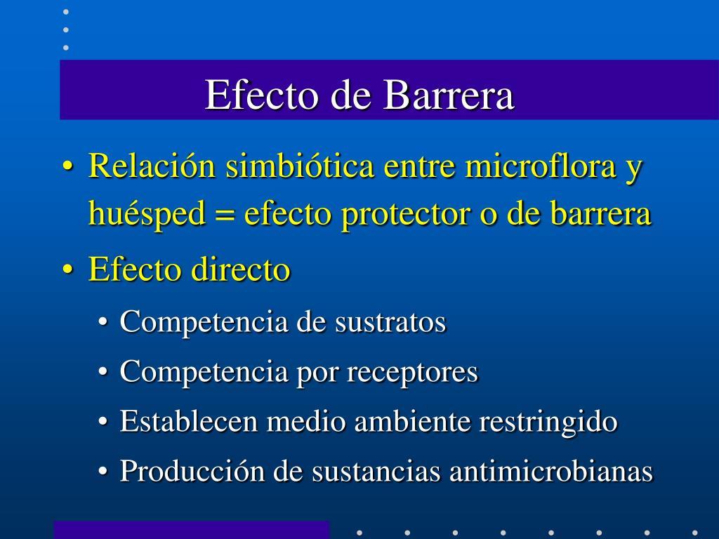 Efecto de Barrera