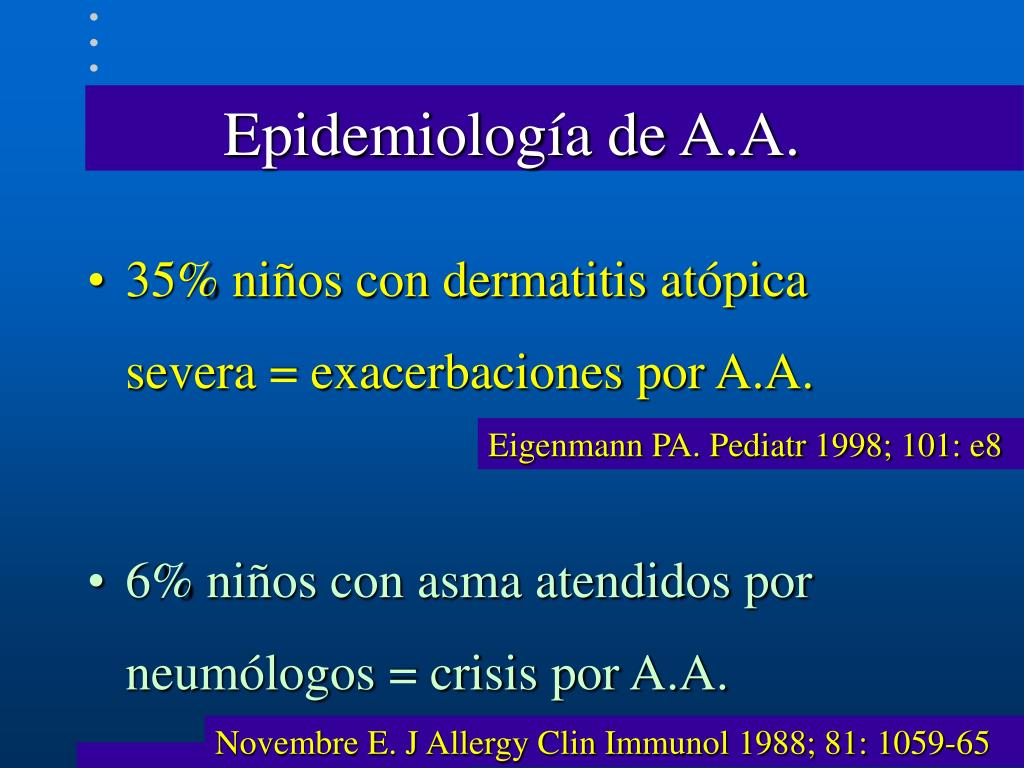 Epidemiología de A.A.