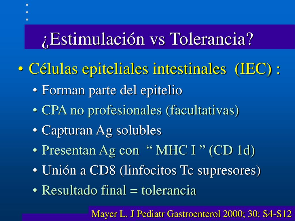 ¿Estimulación vs Tolerancia?